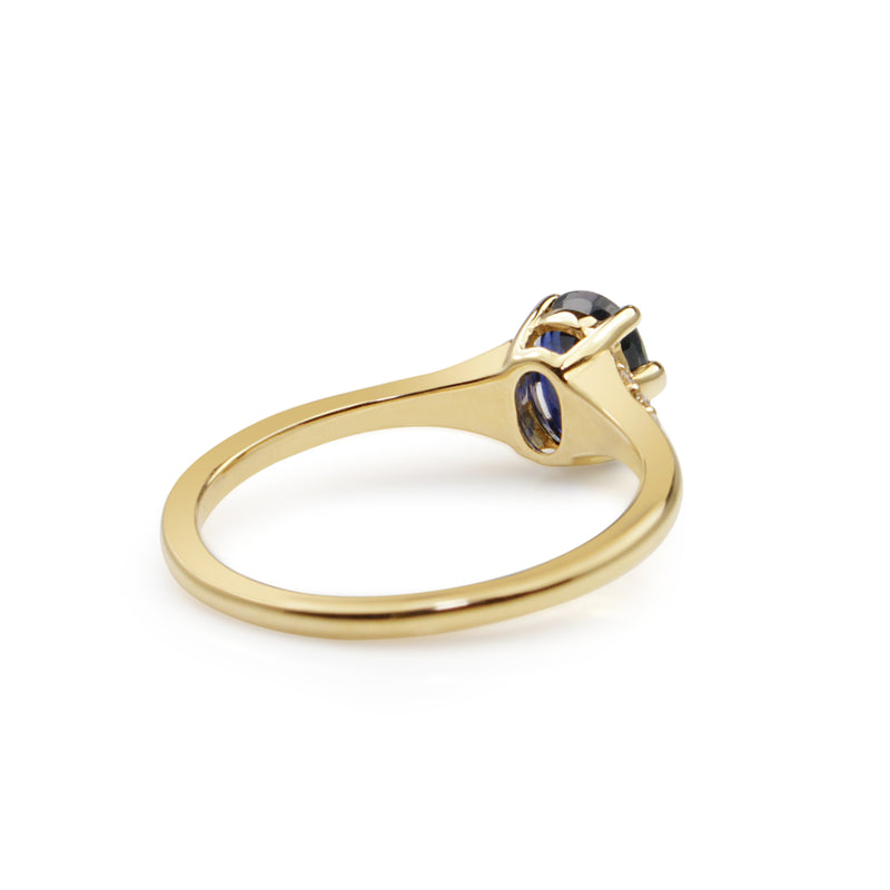 18ct Yellow Gold Sapphire and Diamond Ring