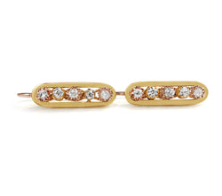 18ct Yellow Gold Antique Drop Diamond Earrings