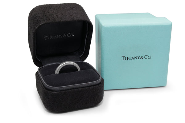 Platinum Tiffany & Co Classic Millgrain Band (Boxed)