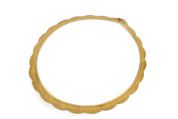 18ct Yellow Gold Solid Omega Necklace