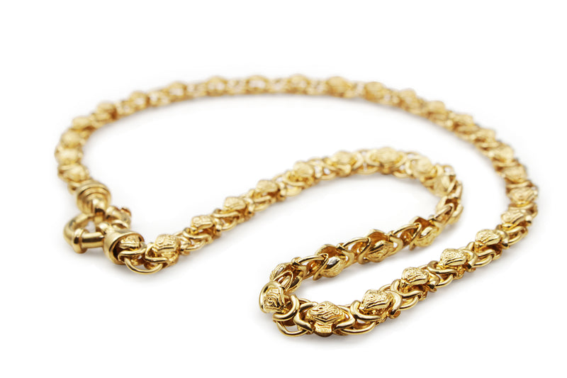 9ct Yellow Gold Fancy Link Necklace