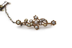 15ct Gold Antique Pearl Brooch