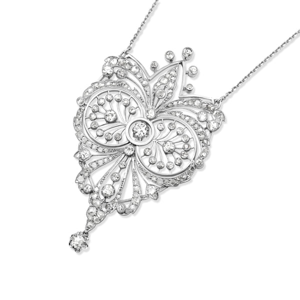 Platinum Antique Diamond Necklace