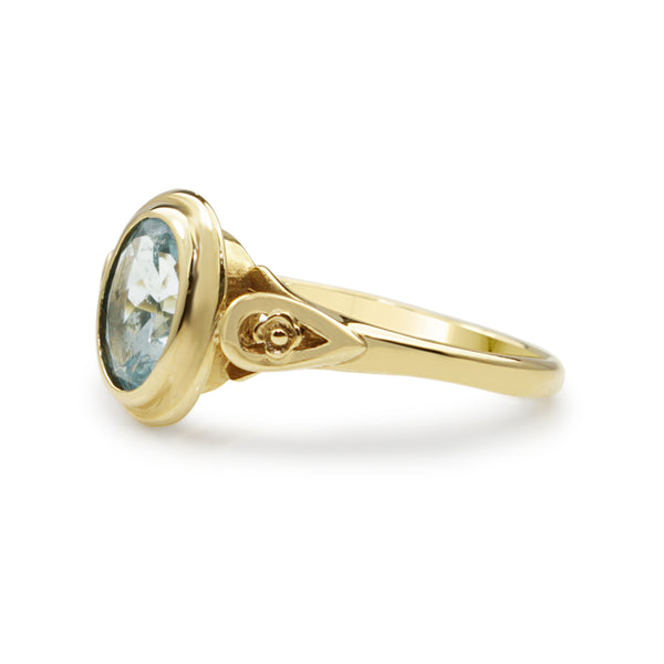 9ct Yellow Gold Aquamarine Ring