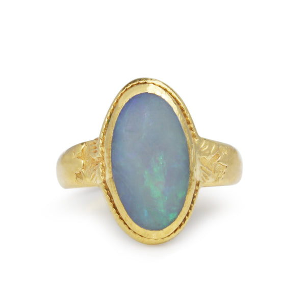 20ct Yellow Gold Opal Vintage Ring