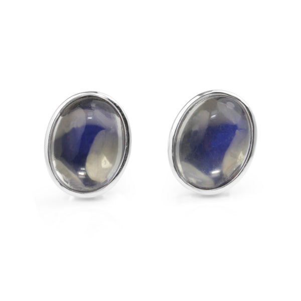 18ct White Gold Moonstone Earrings