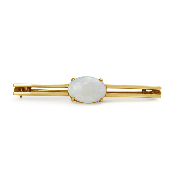 14ct Yellow Gold Antique Opal Brooch