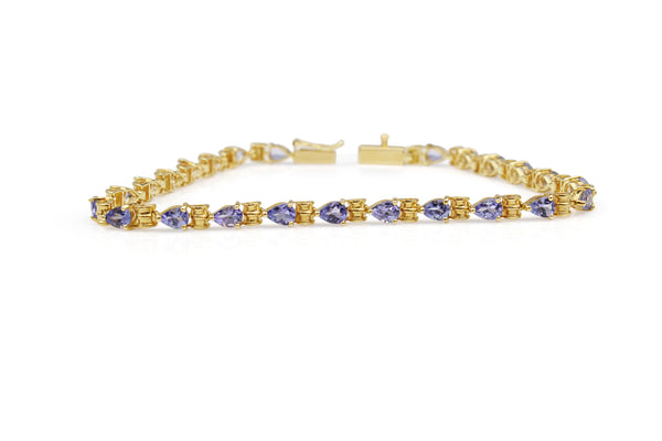 14ct Yellow Gold Tanzanite Bracelet