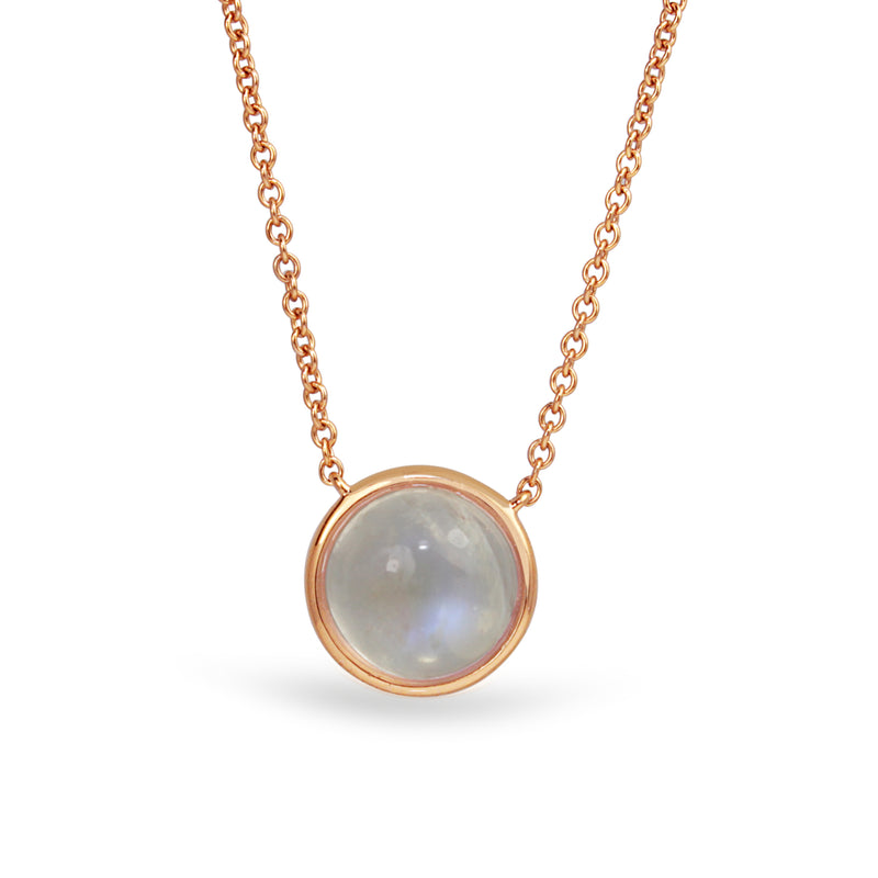 18ct Rose Gold Moonstone Necklace