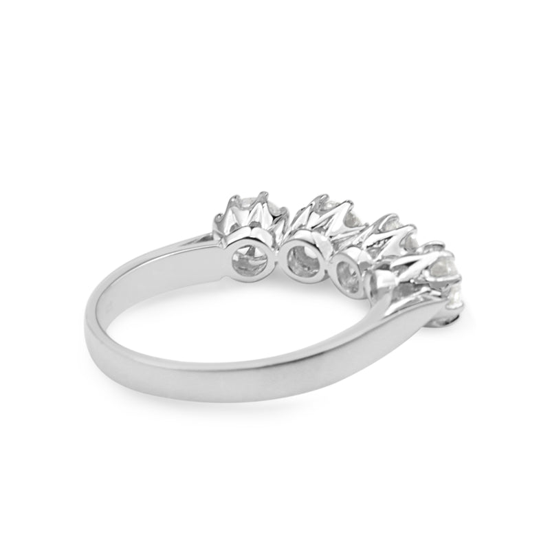 18ct White Gold Victorian 4 Stone Diamond Ring