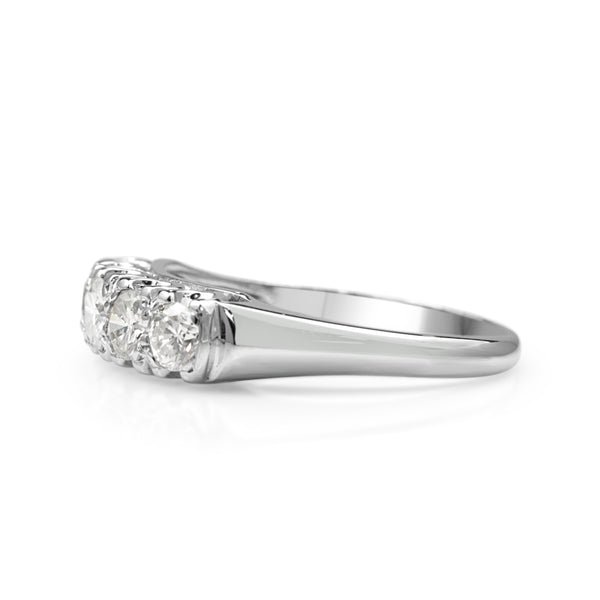 18ct White Gold 5 Stone Vintage Diamond Ring