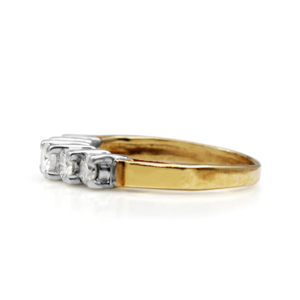 14ct Yellow and White Gold 5 Stone Diamond Ring