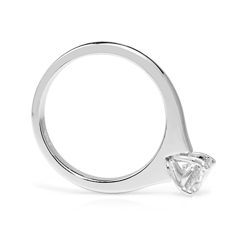 18ct White Gold Oval Diamond Solitaire Ring
