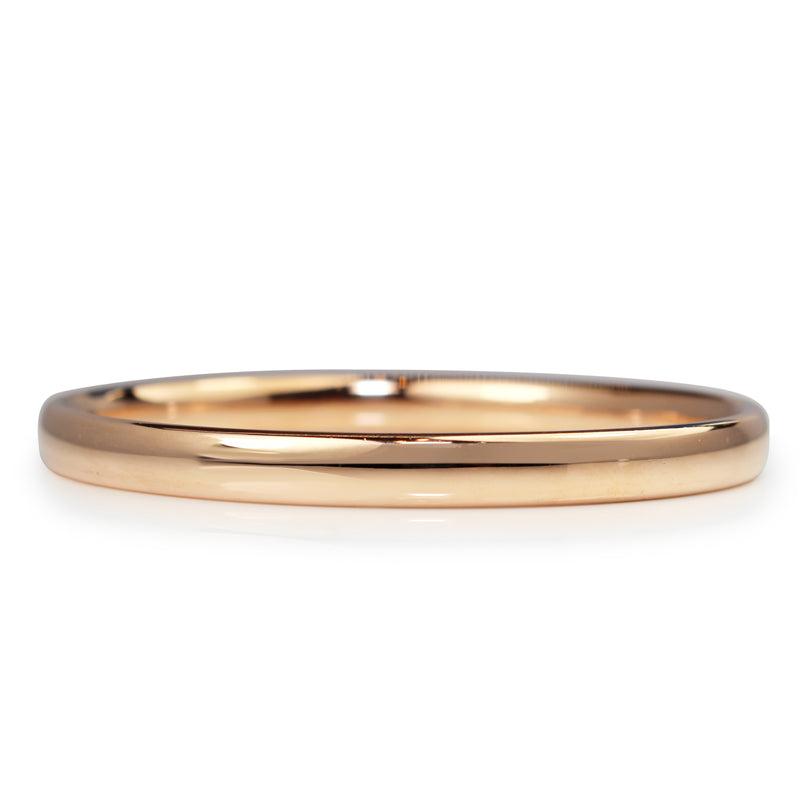 9ct Rose Gold Solid Oval Bangle
