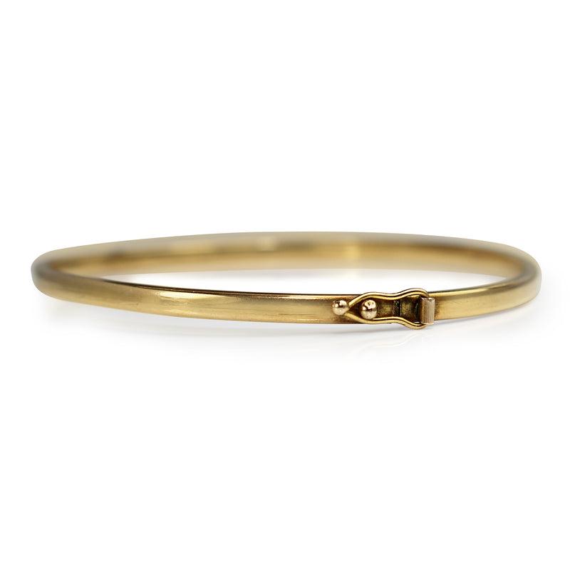 9ct Yellow Gold Oval Hollow Bangle