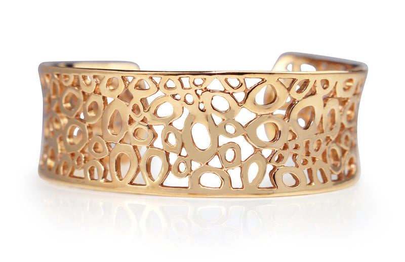 9ct Rose Gold Solid Oval Cuff
