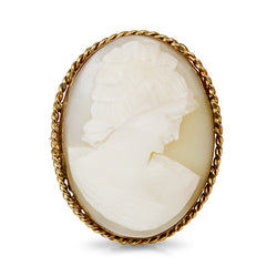 18ct Yellow Gold Antique Cameo Brooch / Pendant