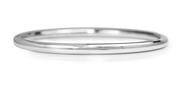 9ct White Gold Hollow All Round Golf Bangle