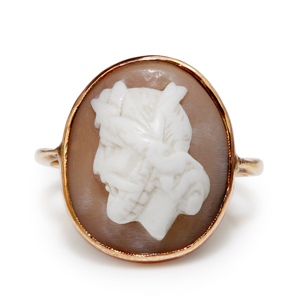 9ct Rose / Yellow Gold Antique Cameo Ring