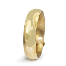 9ct Yellow Gold Large Hollow Round Bangle