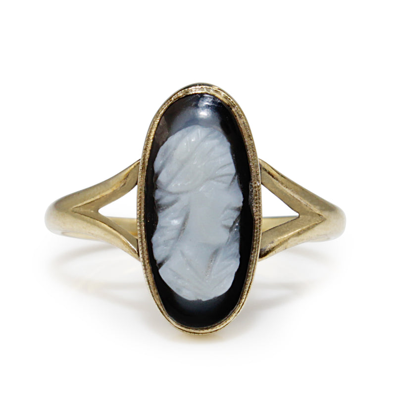 14ct Yellow Gold Antique Cameo Ring