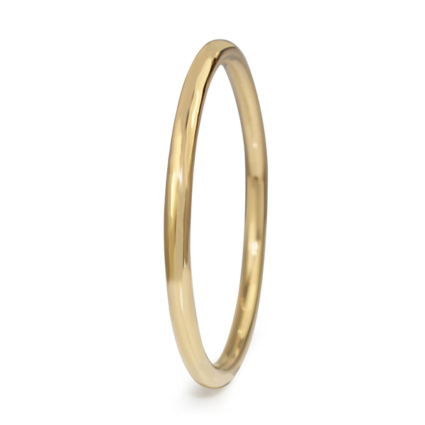 9ct Yellow Gold Solid All Round Golf Bangle