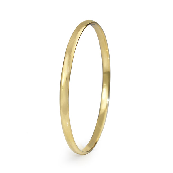 18ct Yellow Gold Solid Round Bangle