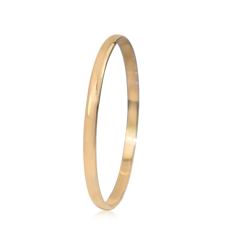 9ct Rose Gold Solid Round Bangle