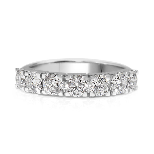 14ct White Gold 7 Stone Diamond Ring