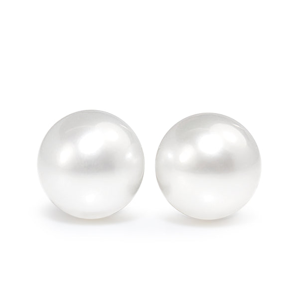 18ct White Gold South Sea 10.5mm Pearl Stud Earrings