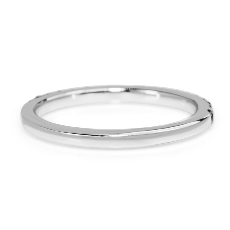 18ct White Gold Sapphire Band