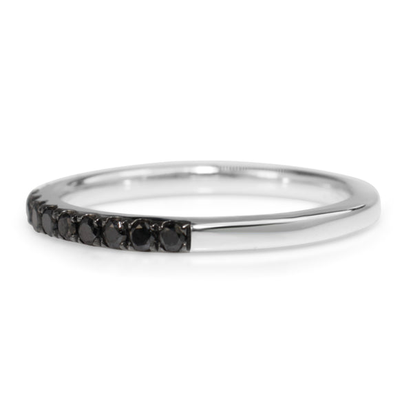 18ct White Gold Black Diamond Band