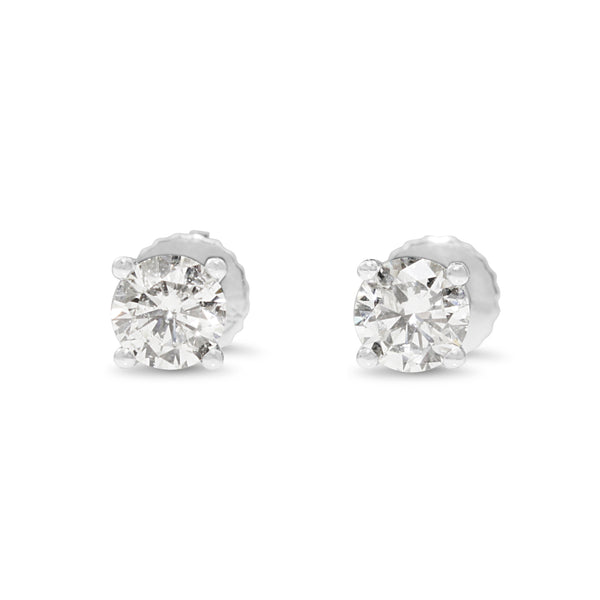 14ct White Gold .92pt Diamond Stud Earrings