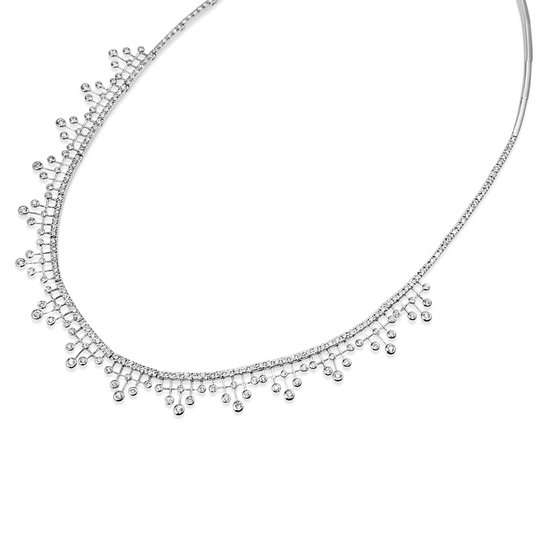 18ct White Gold Diamond Collier Necklace