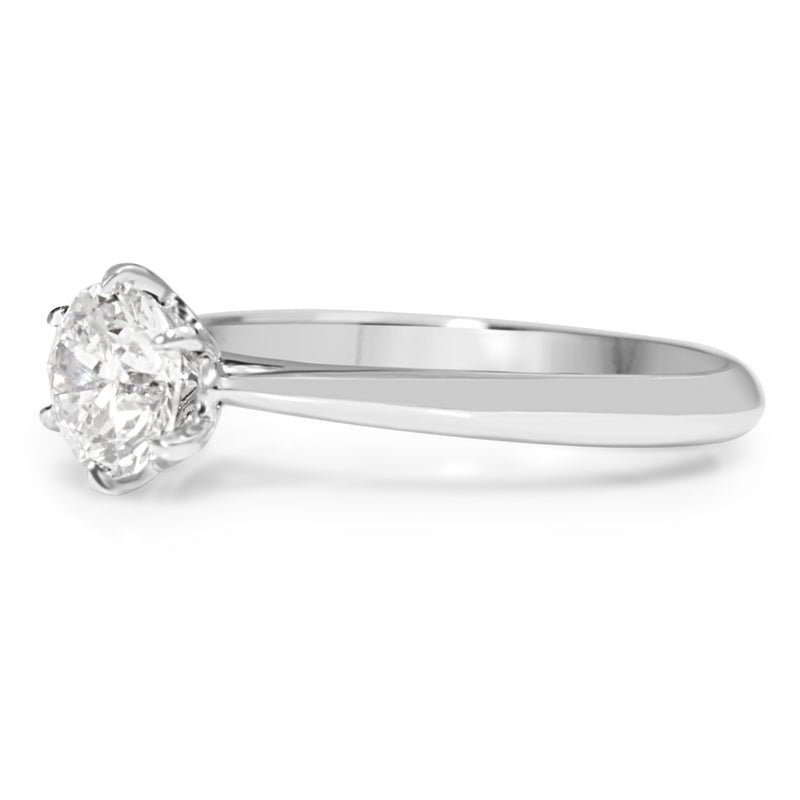 18ct White Gold .72pt Diamond Solitaire Ring