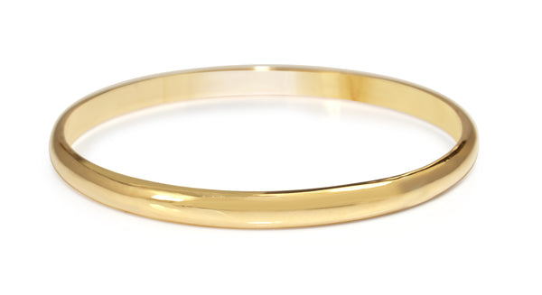 9ct Yellow Gold Solid Round Bangle