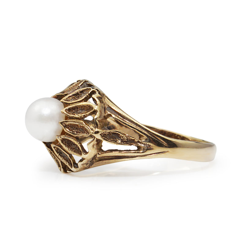 14ct Yellow Gold Pearl Vintage Ring