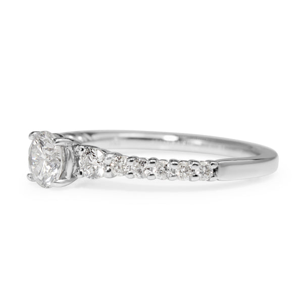 14ct White Gold Graduated Diamond Ring