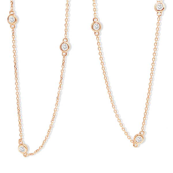 18ct Rose Gold 'Diamond By The Yard' Chain / Necklace
