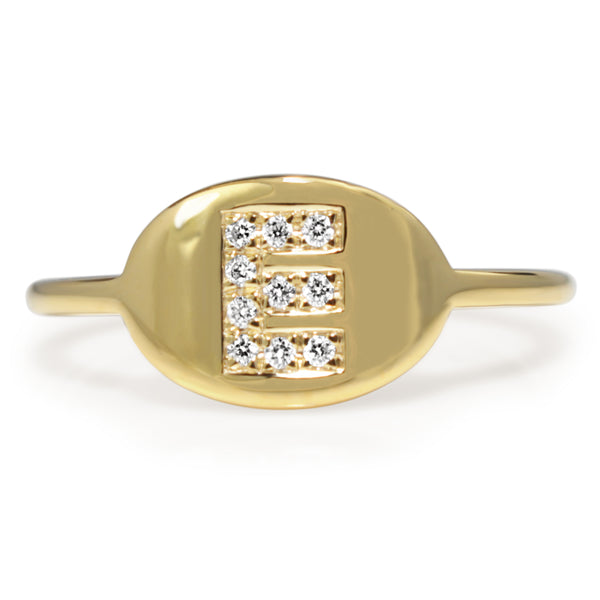 9ct Gold Diamond Initial Ring - MADE TO ORDER