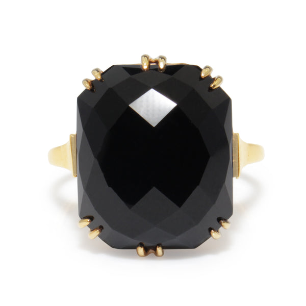 9ct Yellow Gold Antique Onyx Ring