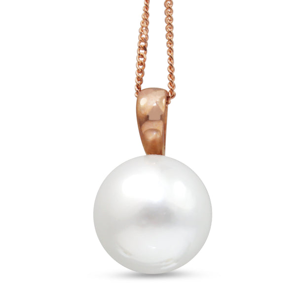 9ct Rose Gold South Sea 12mm Pearl Necklace