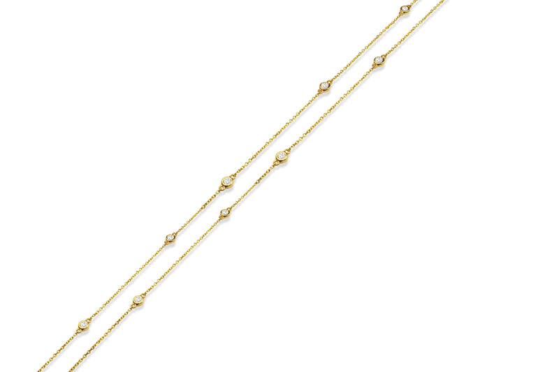 18ct Yellow Gold 'Diamond By The Yard' Chain / Necklace