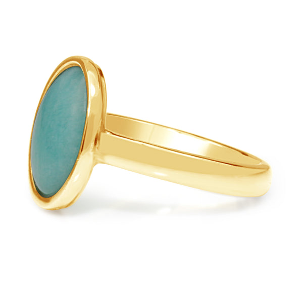 9ct Yellow Gold Amazonite Ring