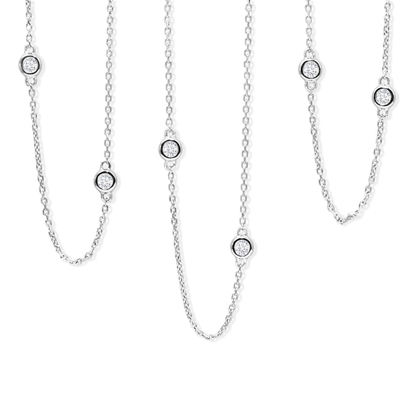 18ct White Gold 'Diamond By The Yard' Chain / Necklace