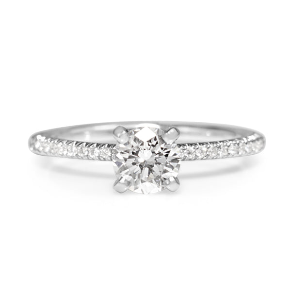 Platinum Diamond Fine Solitaire Ring