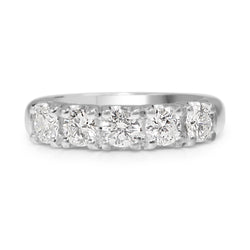 18ct White Gold 5 Stone Diamond Ring