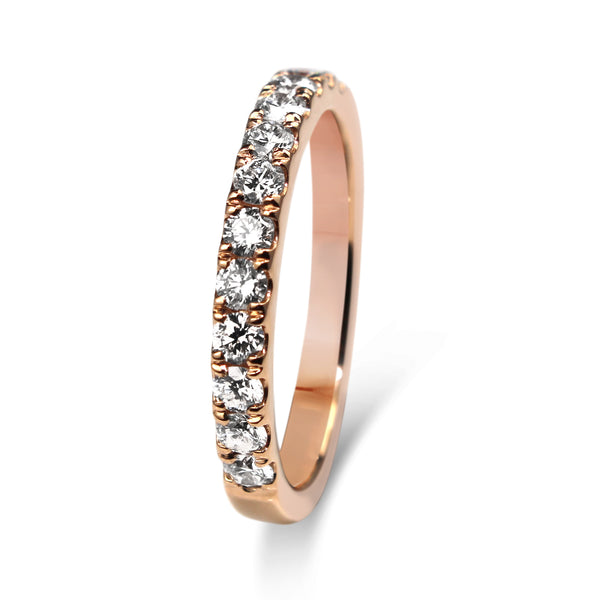 18ct Rose Gold 2.40mm Diamond Band