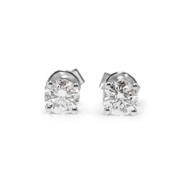 18ct White Gold .60pt Diamond Stud Earrings