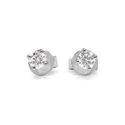 9ct White Gold .30pt Diamond Stud Earrings